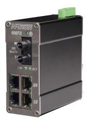 105FX MDR Unmanaged Industrial Ethernet Switch, ST 2km