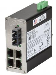 105FX MDR Unmanaged Industrial Ethernet Switch, ST 15km