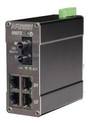 105FX MDR Unmanaged Industrial Ethernet Switch, ST 80km