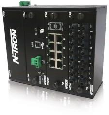 NT24K-DR16-AC Modular Managed Industrial Ethernet Switch, AC