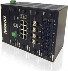 NT24K-DR24-AC Modular Managed Industrial Ethernet Switch, AC